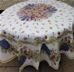 Rose Garland Tablecloth Round 180cms